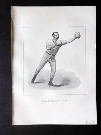 Badminton Library 1889 Boxing Print. Left-Hand Lead-Off